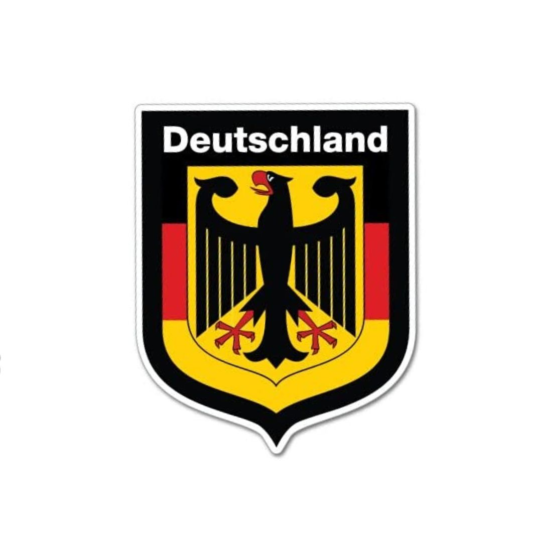 German Eagle Emblem Sticker - Silver Glitter - Vintage Vdub
