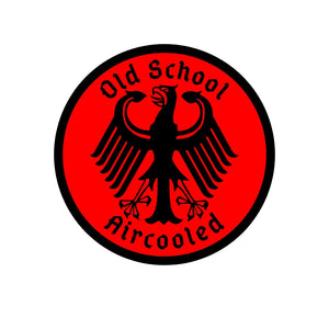 Old School Aircooled Sticker, - Aircooled VW - Vintage Vdub