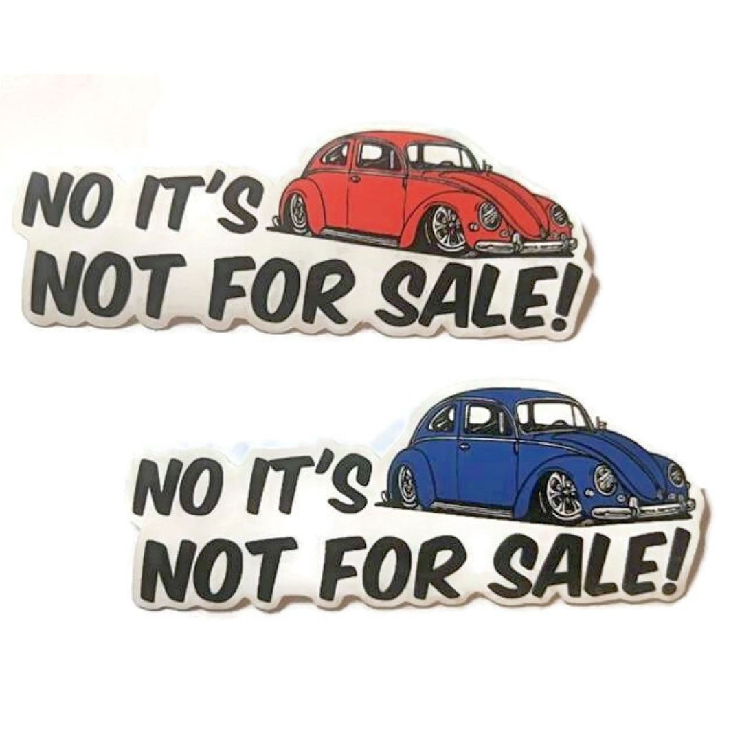 Not For Sale Bug Sticker, - Aircooled VW - Vintage Vdub