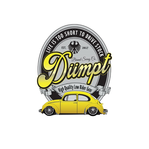 Dumpt Low Rider Sticker, - Aircooled VW - Vintage Vdub