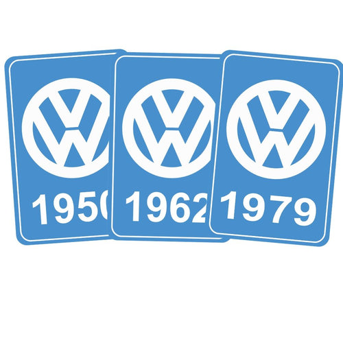 Year Of Manufacture Sticker 1950 -1979, - Aircooled VW - Vintage Vdub