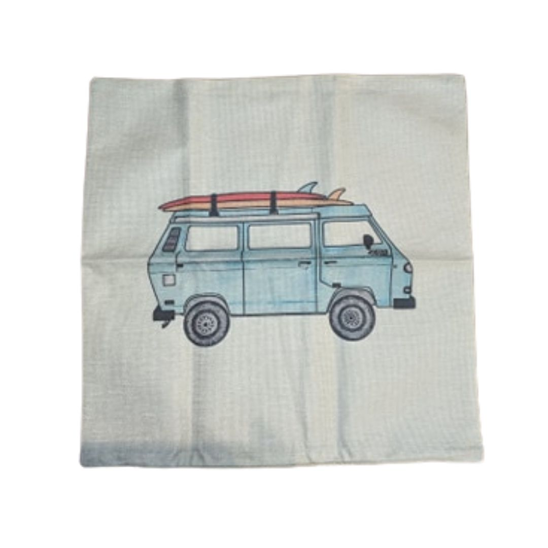 Vanagon Surf Pillow Case, - Aircooled VW - Vintage Vdub
