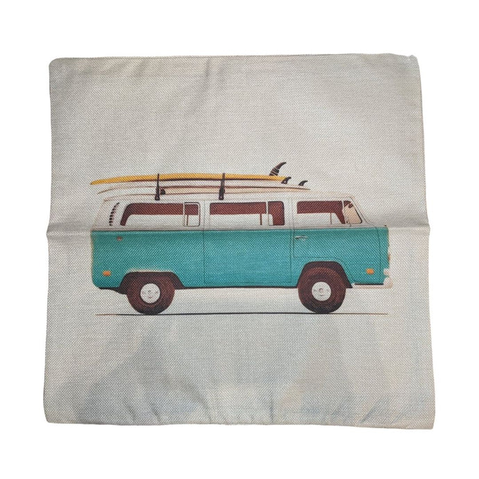 Surf Bay Pillow Case, - Aircooled VW - Vintage Vdub
