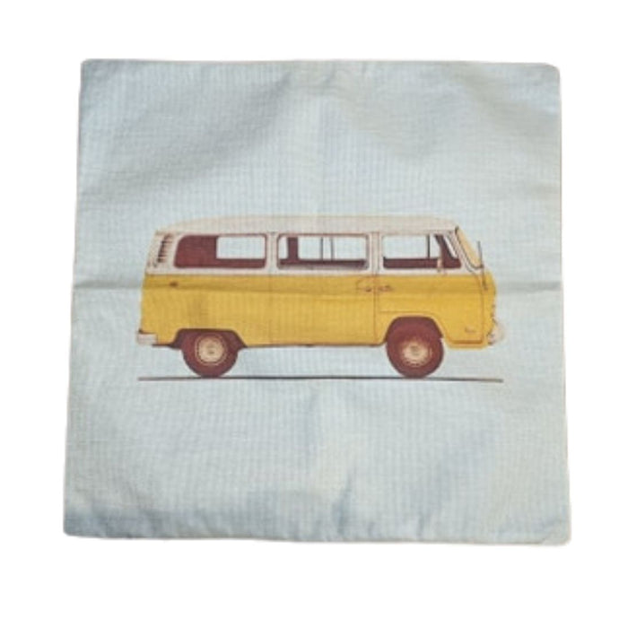 Yellow Bay Pillow Case, - Aircooled VW - Vintage Vdub
