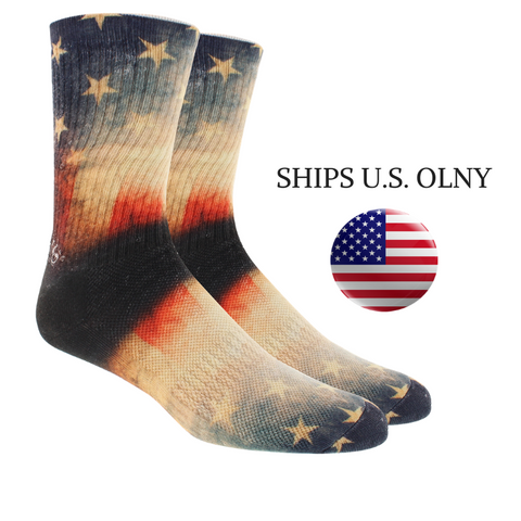 KURB MENS CREW OLD GLORY 360 BLACK