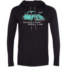 Load image into Gallery viewer, Vintage Bug ~ Lightweight Hoodie (Lt.Blue), - Aircooled VW - Vintage Vdub