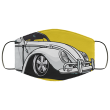 Load image into Gallery viewer, Face Mask White Bug (Multiple colors), - Aircooled VW - Vintage Vdub