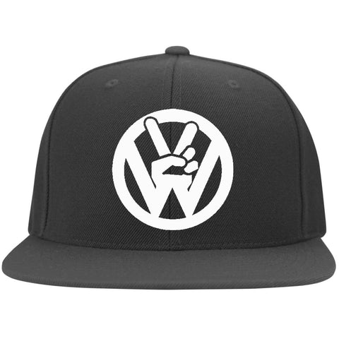 Peace Sign Embroidered Flexfit, - Aircooled - Vintage Vdub - Vw