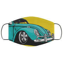 Load image into Gallery viewer, Face Mask Seafoam Bug (Multiple colors), - Aircooled VW - Vintage Vdub