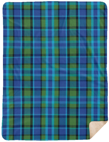 Westy Plaid Fleece Sherpa Blanket - 60x80