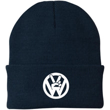 Load image into Gallery viewer, Peace Sign Embroidered Beanie, - Aircooled VW - Vintage Vdub
