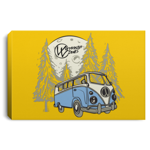 Moonlight Drive Framed Canvas 3 Sizes, - Aircooled - Vintage Vdub - Vw
