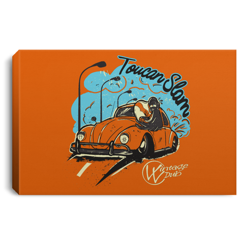 Toucan Slam Framed Canvas 3 Sizes, - Vintage Vdub - Vw