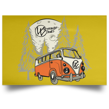 Load image into Gallery viewer, Moonlight Drive Satin Landscape Poster, - Aircooled VW - Vintage Vdub