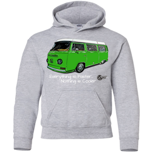 Nothing Is Cooler Youth Pullover Hoodie, - Aircooled VW - Vintage Vdub