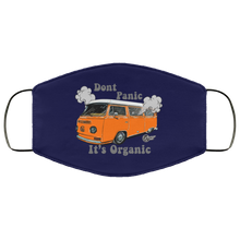 Load image into Gallery viewer, Face Mask Don't Panic It's Organic (Multiple color), - Aircooled VW - Vintage Vdub