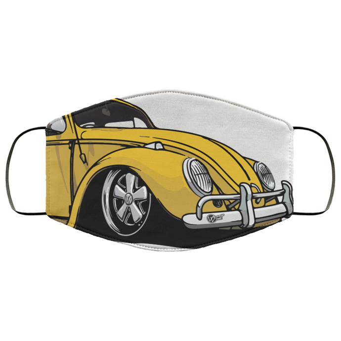 Face Mask Yellow Bug (Multiple colors), - Aircooled VW - Vintage Vdub