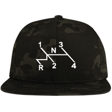 Load image into Gallery viewer, Shift Pattern Embroidered Snap Back, - Aircooled VW - Vintage Vdub