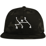 Shift Pattern Embroidered Snap Back, - Aircooled - Vintage Vdub - Vw