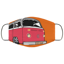 Load image into Gallery viewer, Face Mask Red Bay (Multiple colors), - Aircooled VW - Vintage Vdub