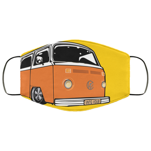 Face Mask Orange Bay (Multiple colors), - Aircooled VW - Vintage Vdub