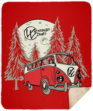 Load image into Gallery viewer, Moonlight Drive  Sherpa Blanket - 50x60, - Aircooled VW - Vintage Vdub
