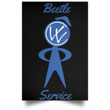 Load image into Gallery viewer, Beetle Service Satin Portrait Poster, - Aircooled VW - Vintage Vdub