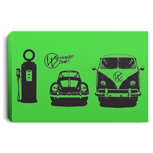 Gas Station Framed Canvas 3 SIZES, - Aircooled VW - Vintage Vdub