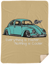 Load image into Gallery viewer, Vintage Bug  Fleece Sherpa Blanket 60 x 80, - Aircooled VW - Vintage Vdub