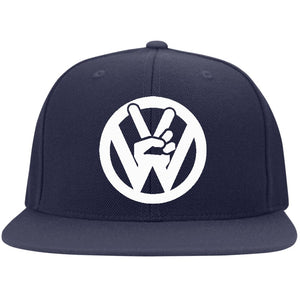 Peace Sign Embroidered Flexfit, - Aircooled VW - Vintage Vdub