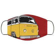 Load image into Gallery viewer, FMA Face Mask Yellow Bay (Multiple colors) - Vintage Vdub