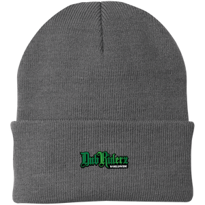 DubRiderz  Embroidered Beanie (Grey/Green), - Aircooled VW - Vintage Vdub