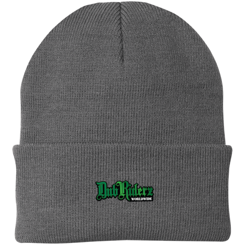 DubRiderz  Embroidered Beanie (Grey/Green)