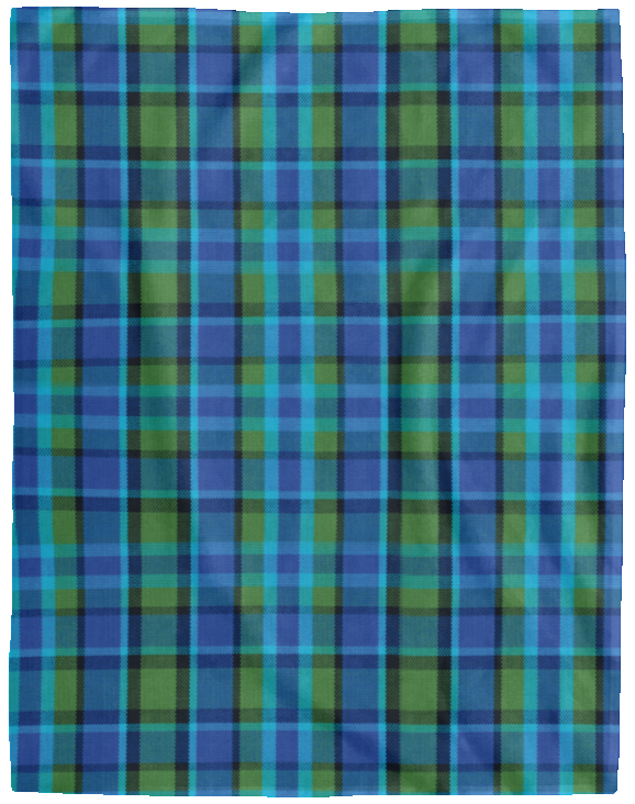 Westy Plaid Fleece Blanket - 60x80, - Aircooled VW - Vintage Vdub
