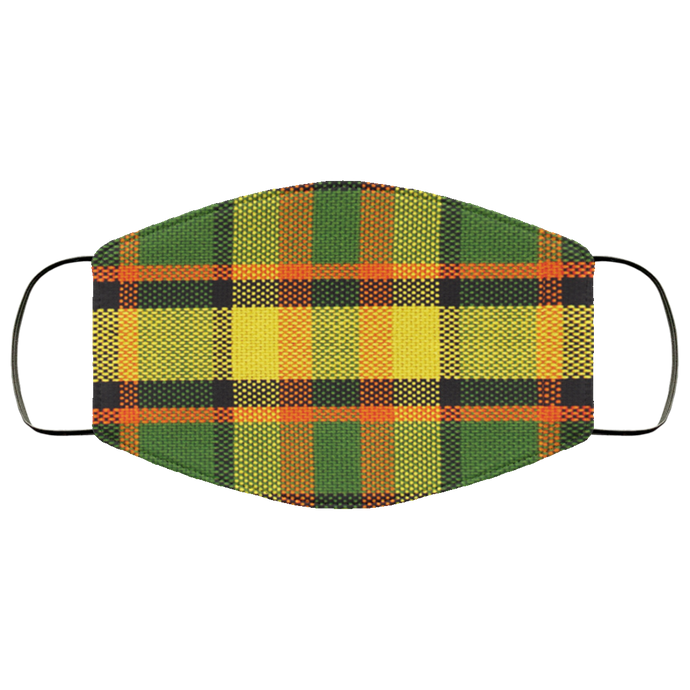 Face Mask Westy Plaid Yellow, - Aircooled VW - Vintage Vdub