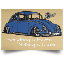 Load image into Gallery viewer, Bug Satin Landscape Poster, - Aircooled VW - Vintage Vdub