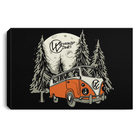 Moonlight Drive Framed Art 3 SIZES, - Aircooled - Vintage Vdub - Vw