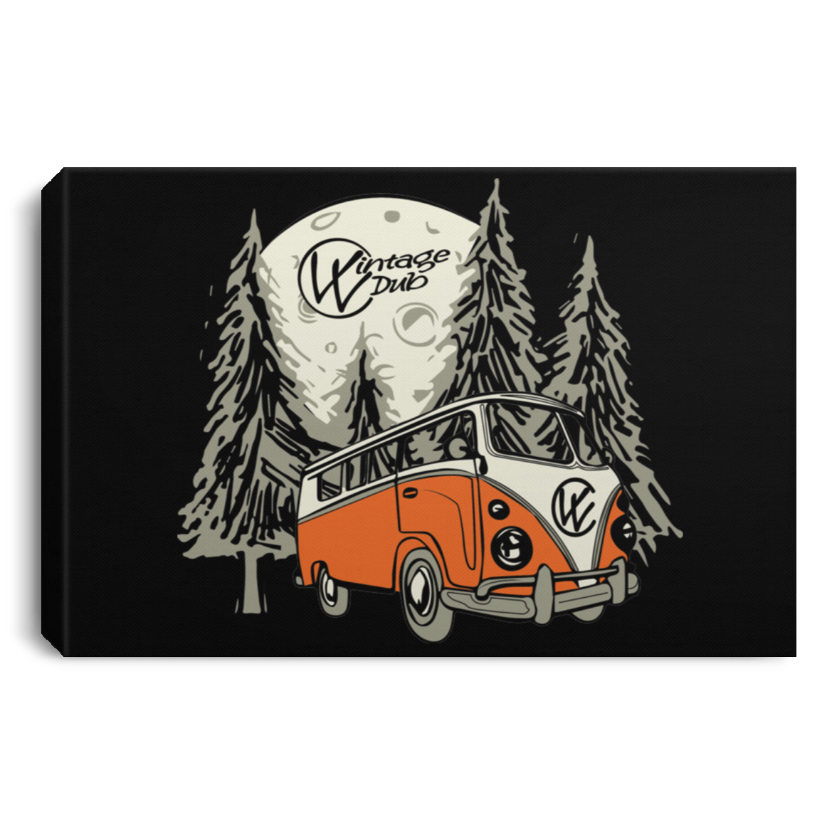 Moonlight Drive Framed Art 3 SIZES, - Aircooled VW - Vintage Vdub