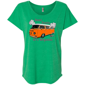 Hippie Bus Next Level Triblend, - Aircooled VW - Vintage Vdub