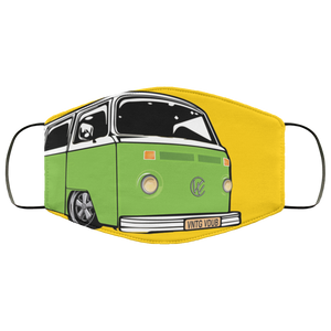 Face Mask Green Bay (Multiple colors), - Aircooled VW - Vintage Vdub