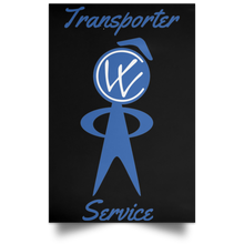 Load image into Gallery viewer, Transporter Service Satin Portrait Poster, - Aircooled VW - Vintage Vdub