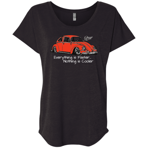 Buggie Orange Next Level Triblend, - Aircooled - Vintage Vdub - Vw