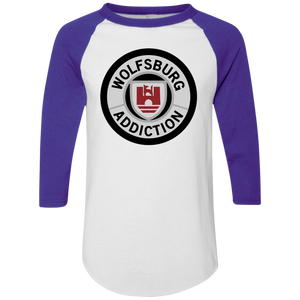 Wolfsburg Addiction Baseball Tee, - Aircooled VW - Vintage Vdub