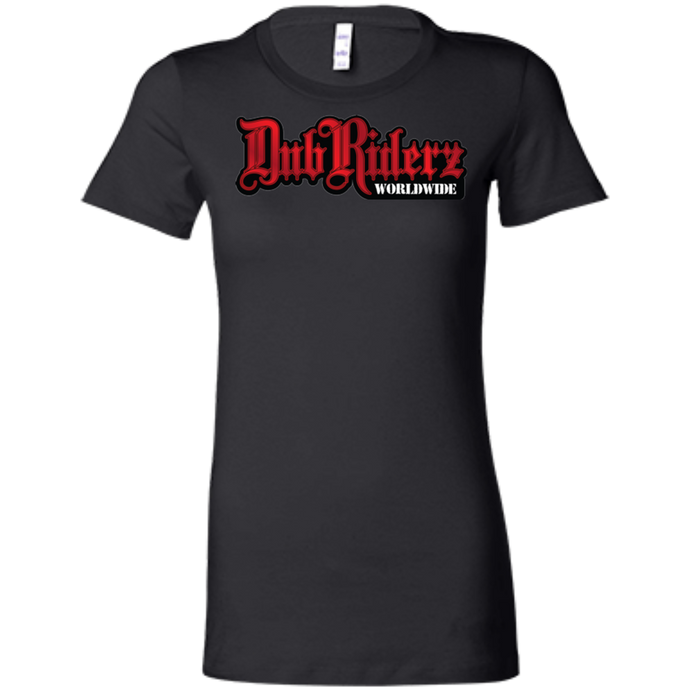 DubRiderz Ladies Tee (Red), - Aircooled VW - Vintage Vdub