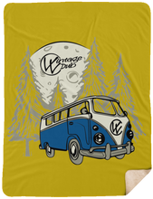 Load image into Gallery viewer, Moonlight Drive 2 Fleece Sherpa Blanket 60 x 80, - Aircooled VW - Vintage Vdub