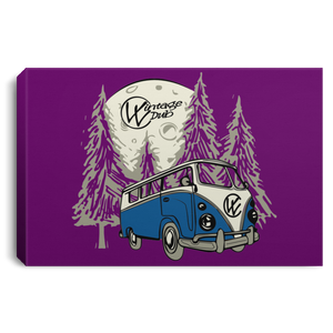 Moonlight Drive Framed Canvas, - Aircooled VW - Vintage Vdub