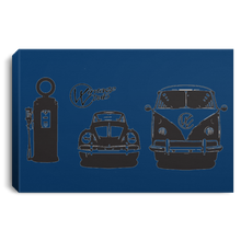Load image into Gallery viewer, Gas Station Framed Canvas 3 SIZES, - Aircooled VW - Vintage Vdub