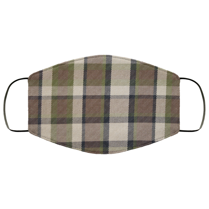 Face Mask Westy Plaid Brown, - Aircooled VW - Vintage Vdub