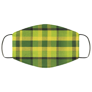 FMA Face Mask Westy Plaid Green - Vintage Vdub