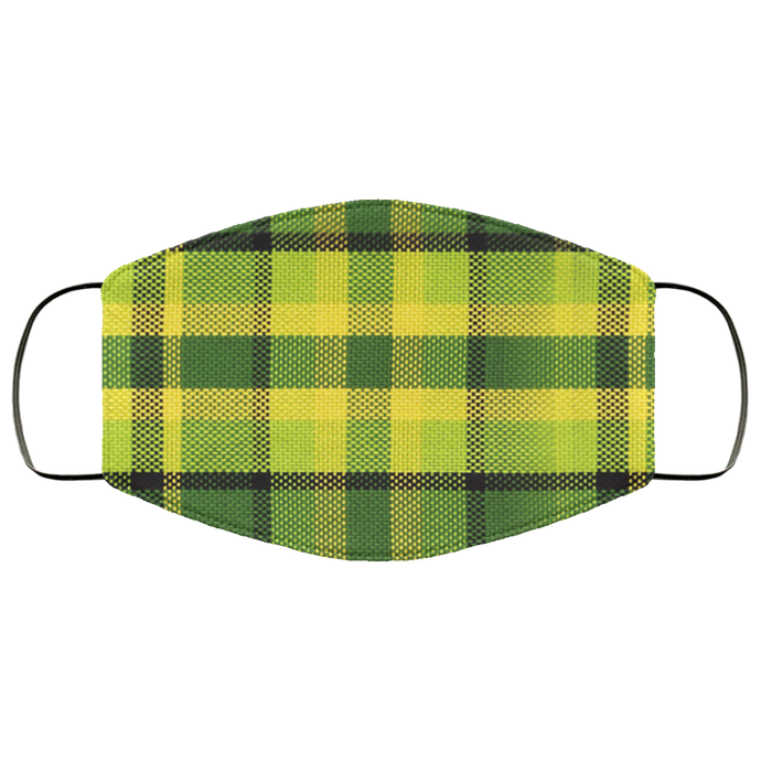 Face Mask Westy Plaid Green, - Aircooled VW - Vintage Vdub